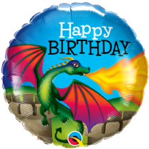 "Birthday Mythical Dragon Foil Balloon (18"") 1pc"